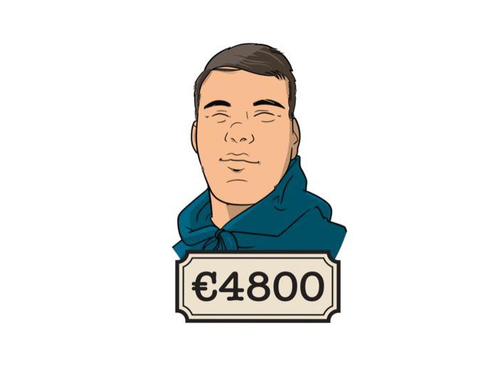 Ken (23) is blij met zijn maandsalaris van 8000 euro bruto.