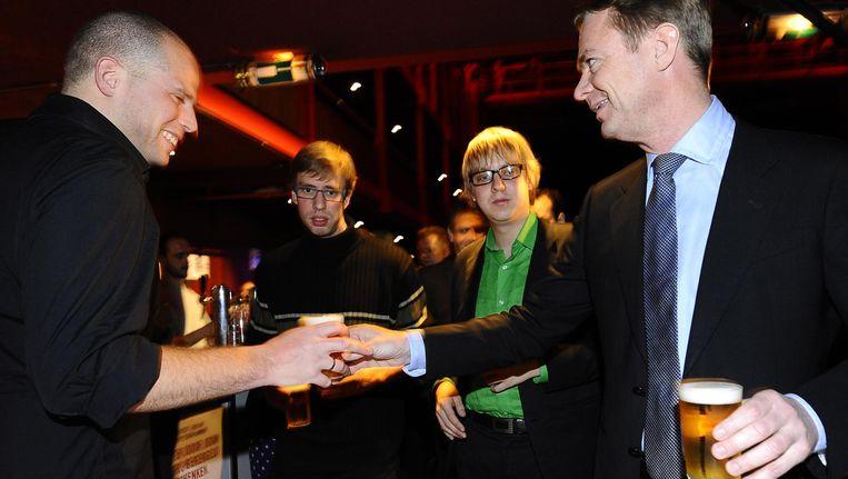 Staatssecretaris Hendrik Bogaert op het 'Ambtenarenbal'. Beeld BELGA