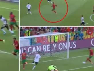 Wat een spurt! In 17 seconden aan overkant: Ronaldo, ook goed voor no look-hakje, enige Portugees die opvalt