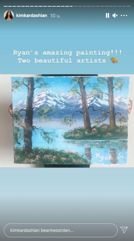 Dit is het schilderij dat Ryan, de beste vriend van North, gemaakt zou hebben