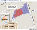 In het plan Tussenland wordt op dit moment gerekend met 23 woningen, zowel vrijstaande woningen, twee-onder-een-kapwoningen als rijtjeswoningen.