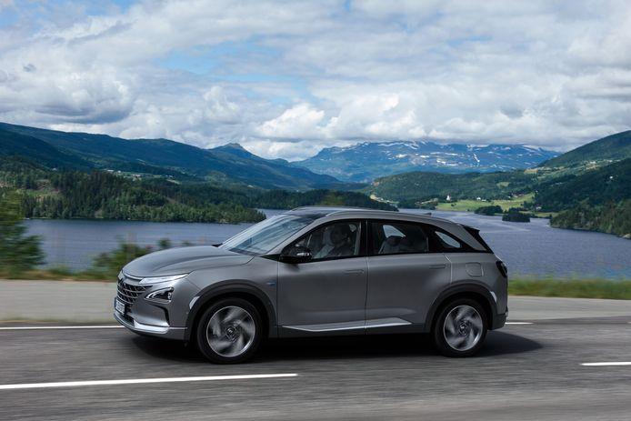 De Hyundai Nexo: op dit moment de enige andere waterstofauto die je kunt kopen
