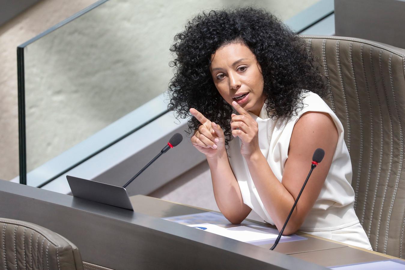 Sihame El Kaouakibi in het Vlaams parlement