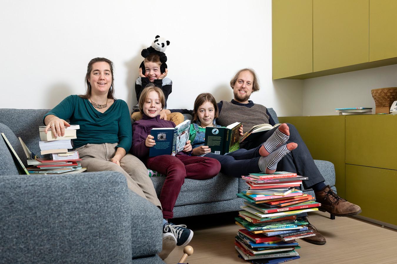 Ilona Plichart en haar gezin.