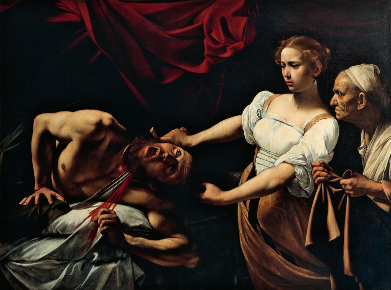 Judith onthoofdt Holofernes, 1599, van Michelangelo Merisi da Caravaggio (1571-1610).  Beeld foto De Agostini/Getty Images