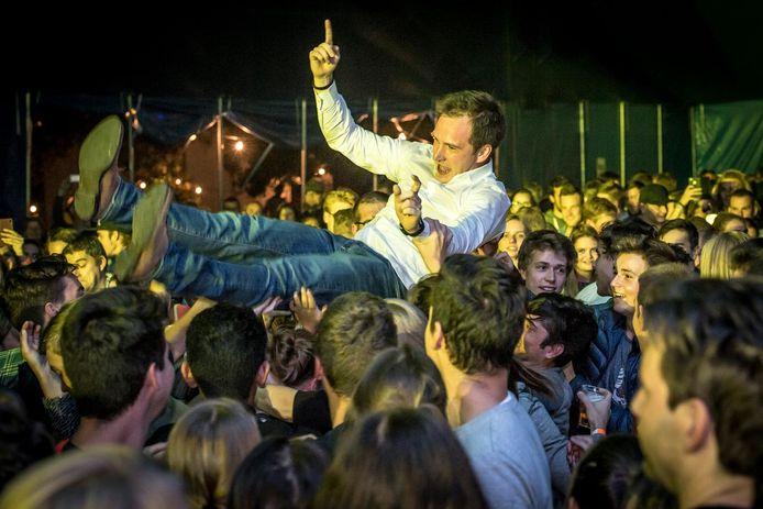 Francesco Vanderjeugd in 2017, tijdens het Feest van de burgemeester, dat een echt volksfeest werd.