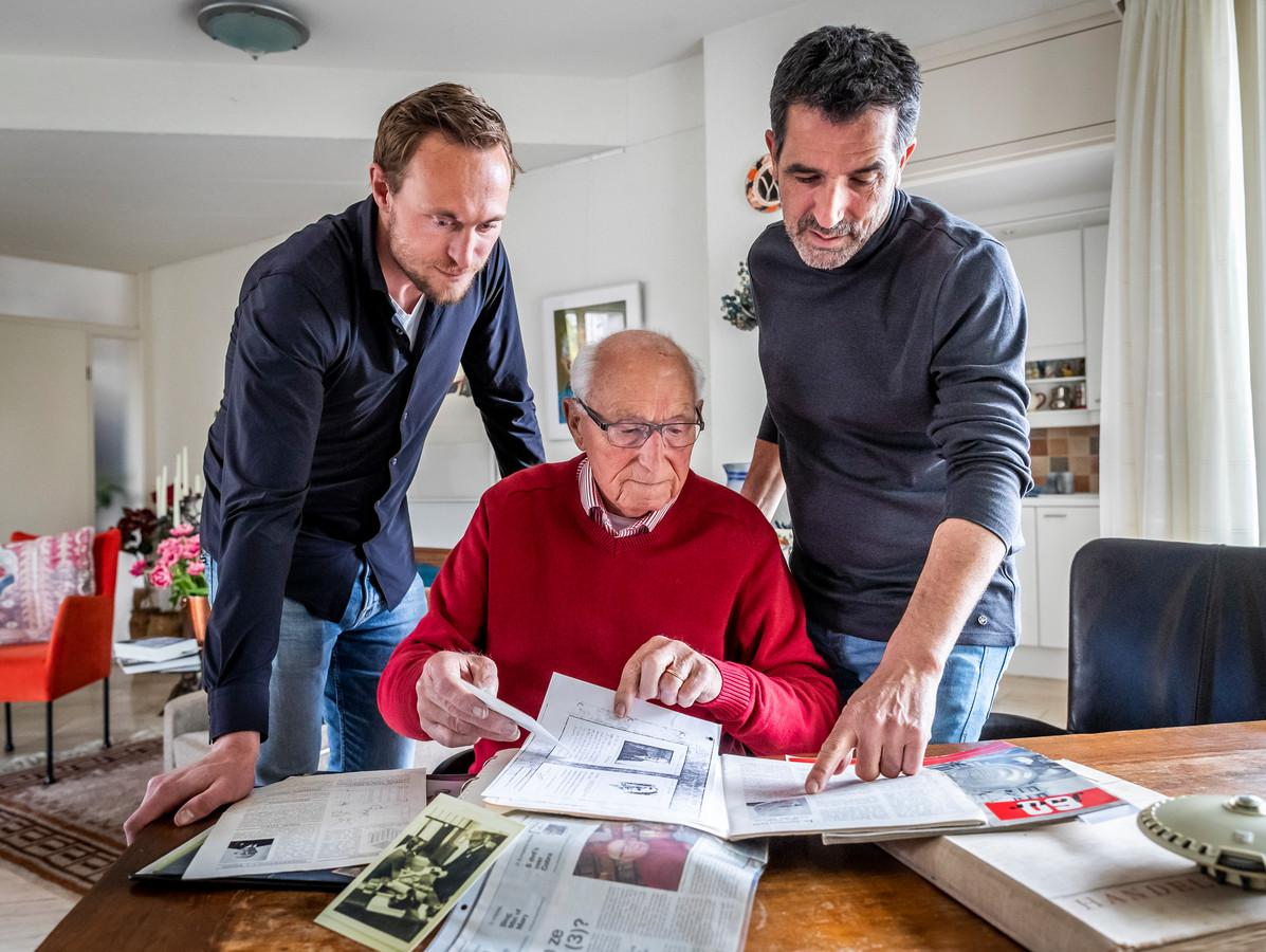Drie generaties Philips. (vlnr) Sjef Wijnen, Cor Wijnen en Jan Wijnen.