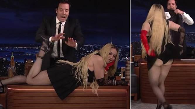 """Madonna choqueert bij Jimmy Fallon: """"Wat doet ze nu?"""""""