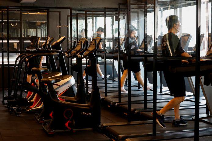 Een fitnessclub in Seoul.