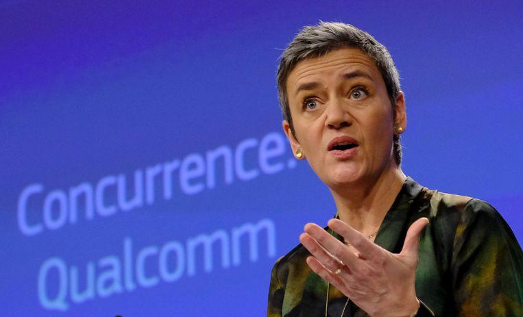 Eurocommissaris voor Mededinging Margrethe Vestager. Beeld EPA