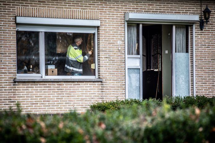 Een wapendeskundige en het labo van de federale gerechtelijke politie werden ter plekke geroepen na het schietincident.
