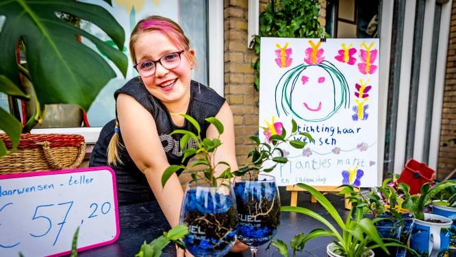 Quadyra (8) hoopt met plantjesmarkt geld voor pruik voor een ander kind te verzamelen: 'Mijn haar doneer ik ook'