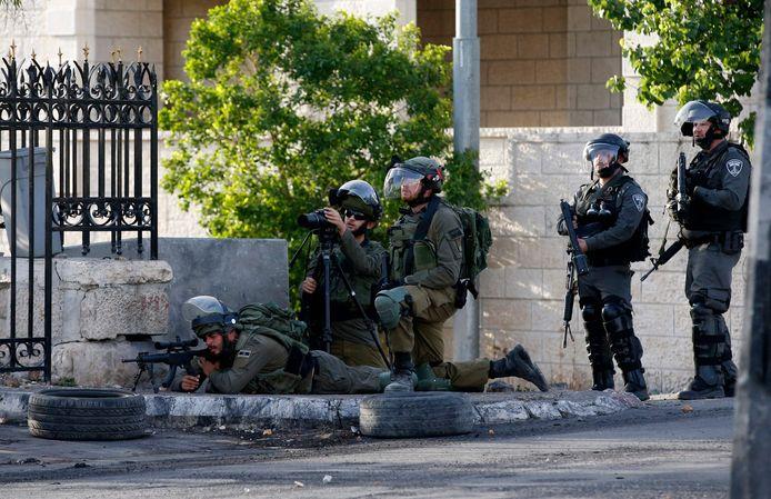 Israëlische troepen in Bethlehem.