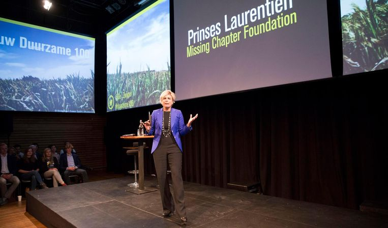 Prinses Laurentien houdt een toespraak over het klimaatbeleid. Beeld Werry Crone