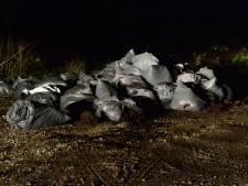 Weer zakken met drugsafval gedumpt in bos bij Milheeze