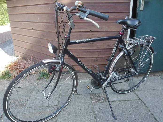 De fiets waarop Sandra's dochter gisteren reed.