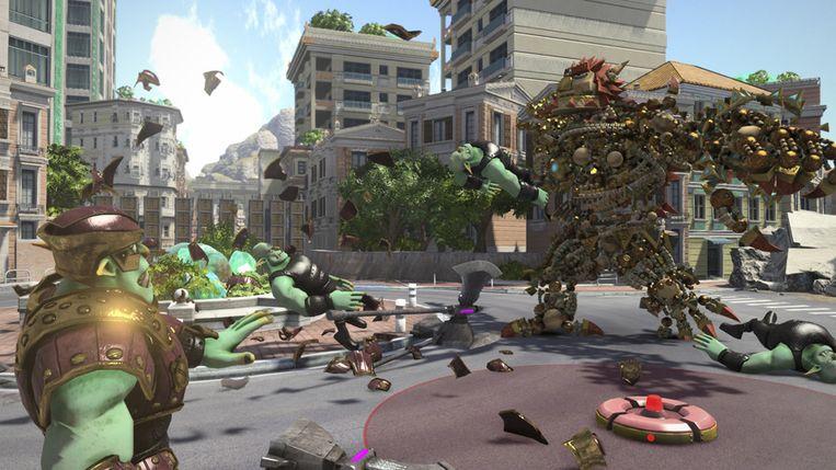 Knack is een van de nieuwe computerspellen. Beeld AP