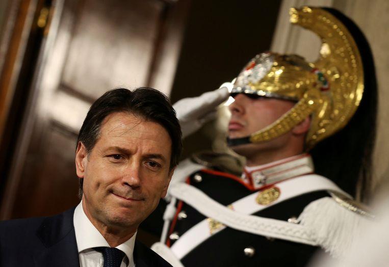 Lega en de Vijfsterrenbeweging hebben Conte opnieuw voorgesteld als premier. Beeld REUTERS