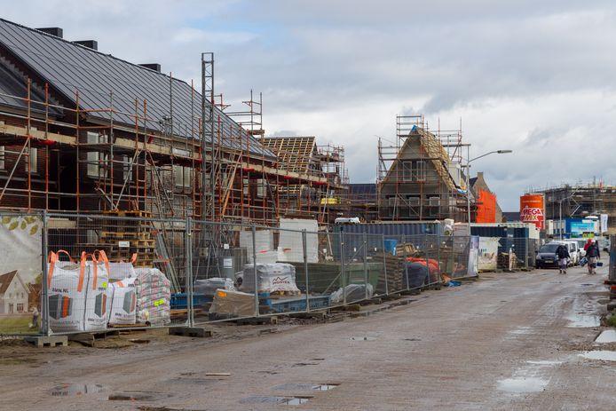 Archiefbeeld van nieuwbouw in de wijk Dijkstraten in Best. Net als in heel Nederland is er in de gemeente sprake van een tekort aan betaalbare woningen, ook al wordt er flink gebouwd.