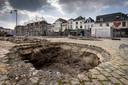 Na het verwijderen van bomen op de Parade werd archeologisch onderzoek verricht.