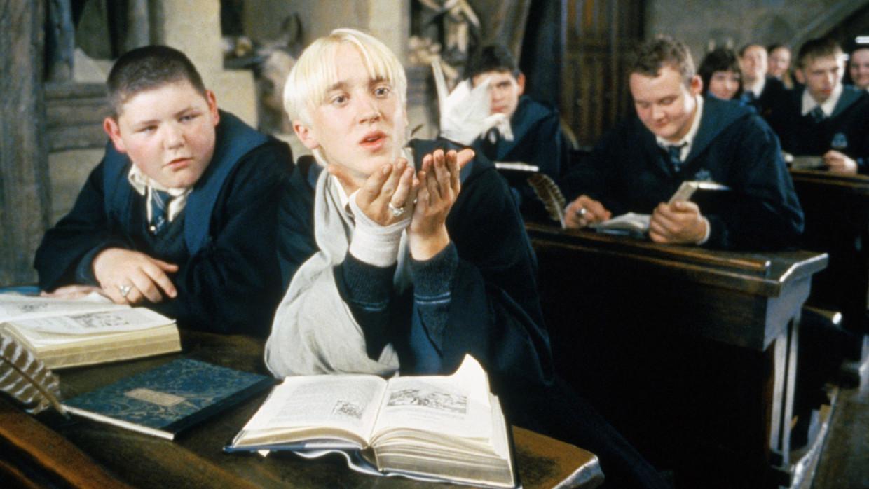 Draco Malfidus, in de Harry Potter-films en -boeken een onsympathiek bijfiguur, in fanfictie vaak de held.  Beeld rv