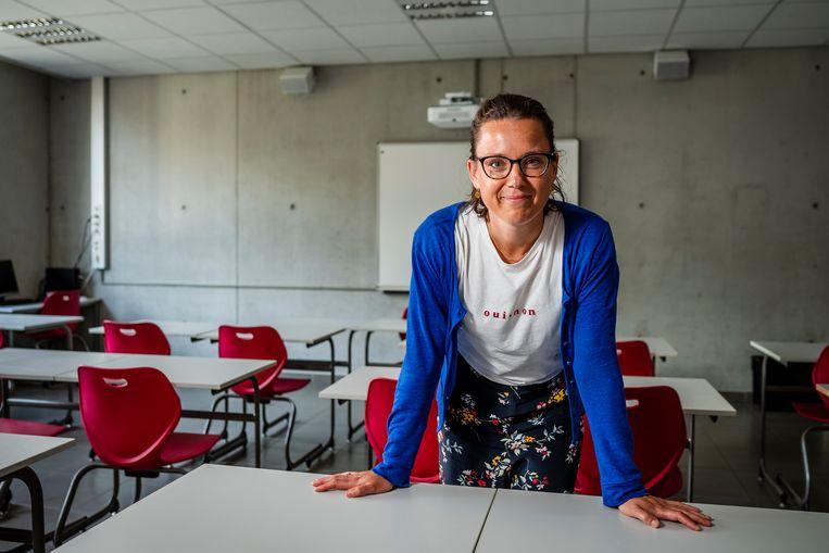 Directrice Astrid De Groeve voert volop sollicitatiegesprekken. Beeld Gregory Van Gansen / Photo News