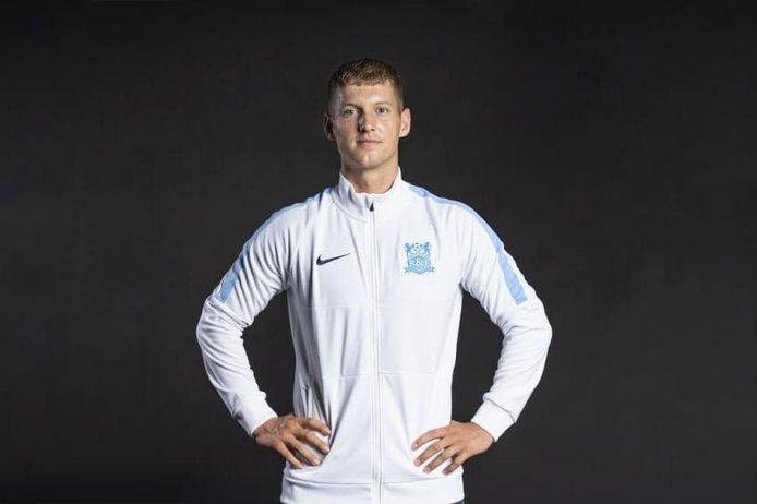 Niels van Sundert in het trainingspak van Guangzhou R&F.