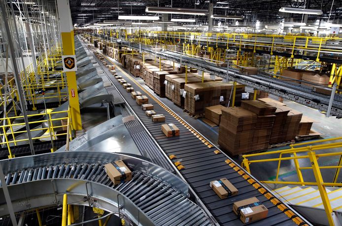 Beeld ter illustratie, werkplaats van Amazon.