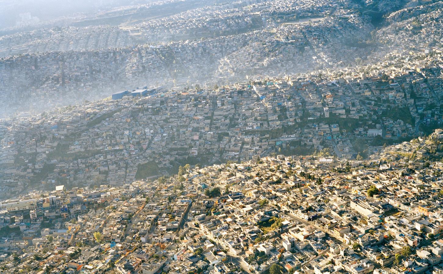Geen ruimte meer voor groen in Mexico City.