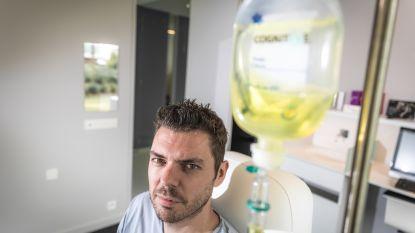 """Onze redacteur test het energie-infuus dat Sean Dhondt gebruikt:""""Wie als een razende door het leven wil gaan, heeft wél andere producten nodig"""""""