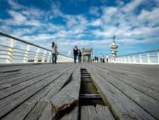 Pier in Scheveningen vrijdag op slot