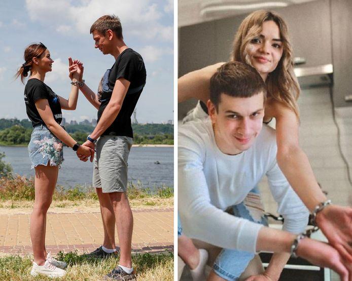Un couple ukrainien s'est menotté les mains pendant quatre mois.