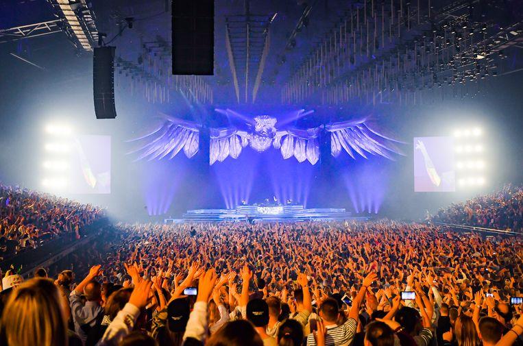 Het Sportpaleis schrapt alle concerten tot het einde van de maand. Beeld Joel Hoylaerts / Photo News
