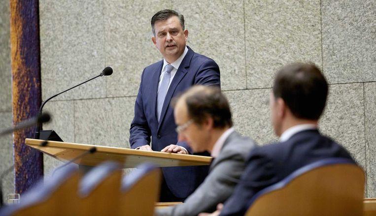 Emile Roemer in de Tweede Kamer. Beeld ANP