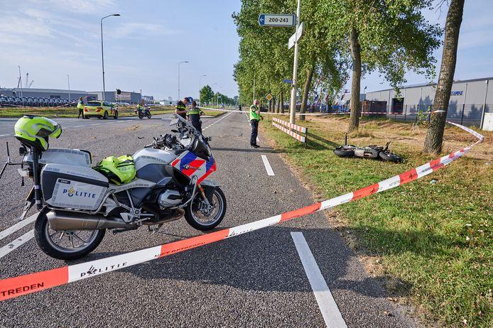 Motorrijder overleden bij ongeval in Moerdijk.