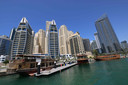 Beeld aan de Dubai Marina.