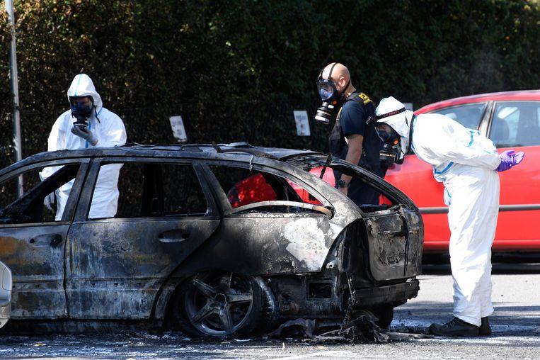 Later in de ochtend werd een uitgebrande auto teruggevonden op een andere plek in het Zweedse Malmö. De politie sluit niet uit dat de Mercedes is gebruikt door de dader, of daders.