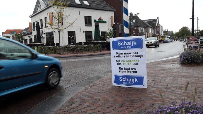 De actiegroep Schaijk bij Oss mobiliseerde in oktober de inwoners.
