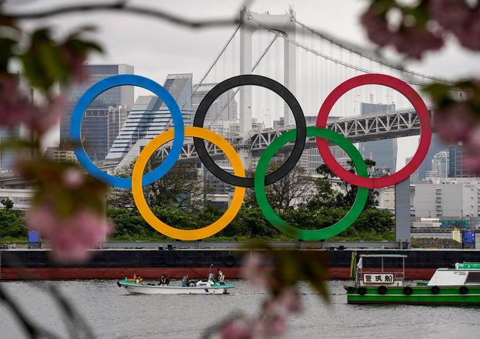 Olympische ringen in Tokio.