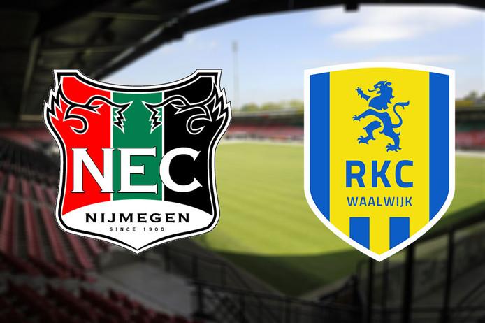 NEC - RKC Waalwijk, vrijdagavond om 20.00 uur in het Goffertstadion in Nijmegen.