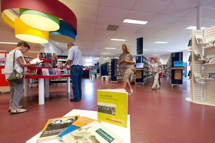 De bibliotheek in Groesbeek.