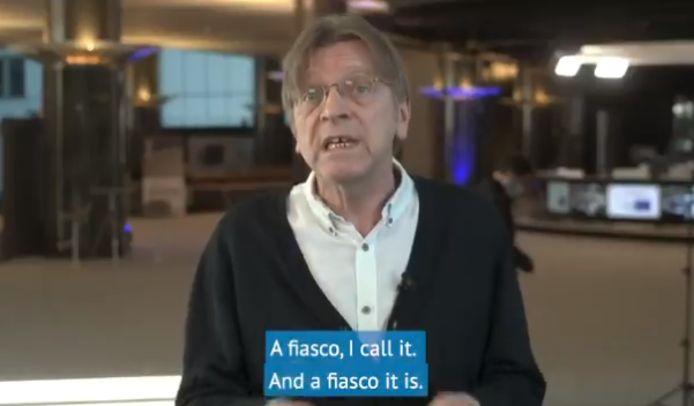 Guy Verhofstadt s'est montré très critique vis-à-vis de la stratégie de vaccination de l'Union européenne.