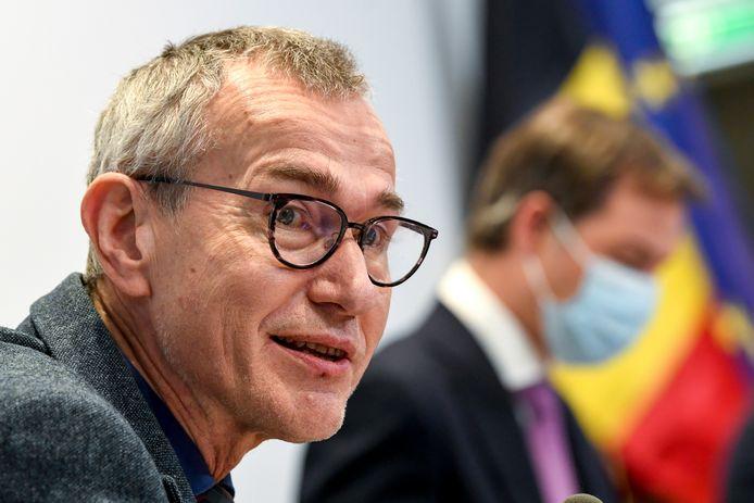 Le ministre Vandenbroucke, mercredi, en conférence de presse