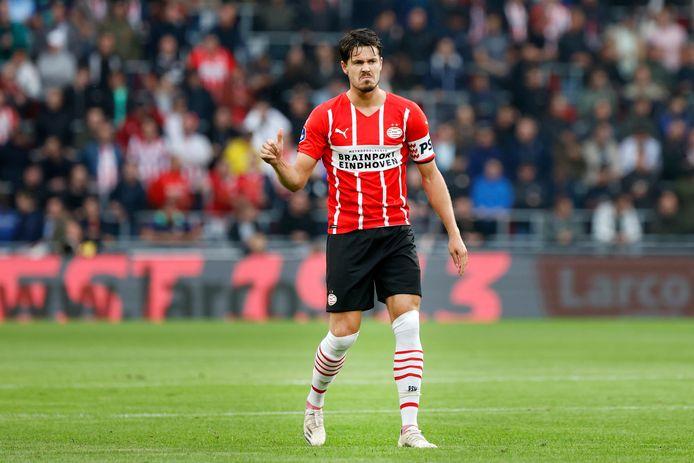 Marco van Ginkel maakte een prima indruk voor PSV in de eerste helft tegen PAOK Saloniki.