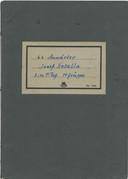 Schriftje van oorlogsmidadiger Josef Kotalla. Bewaker van kamp Amersfoort in de tweede wereldoorlog.