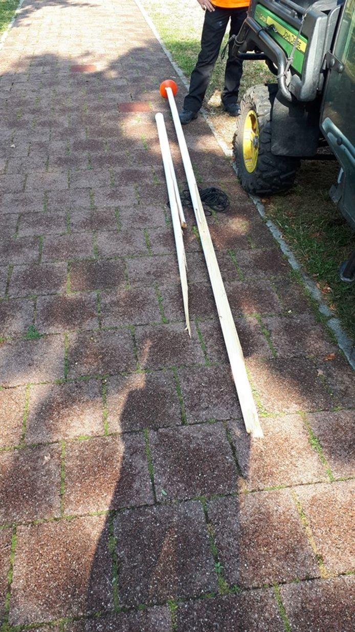 Vernielingen bij de kinderbouwweek in het Waterkwartier in Nijmegen.