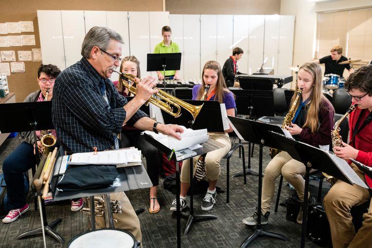 Structureel muziek- en theateronderwijs moet de nieuwe norm worden in het onderwijscurriculum. Beeld Getty Images
