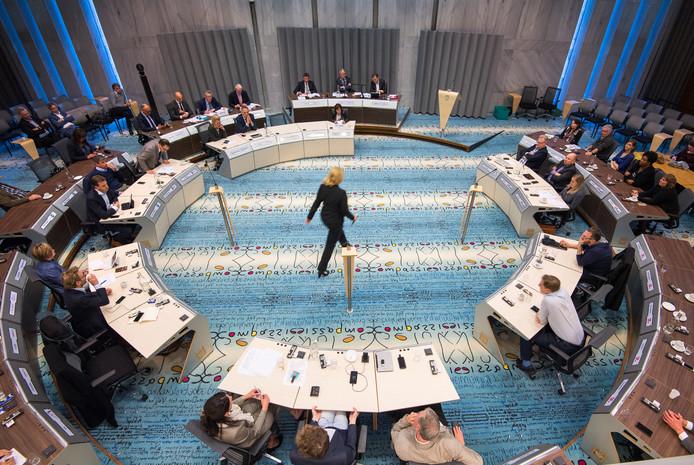 De raadzaal in het Arnhemse stadhuis.