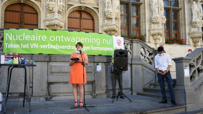 """Stad Leuven viert verbod op kernwapens: """"We dringen er bij de federale overheid op aan om verdrag ook te tekenen"""""""