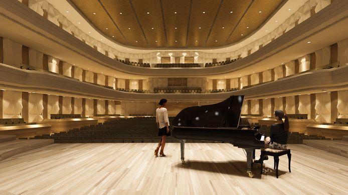 Een impressie van de concertzaal.